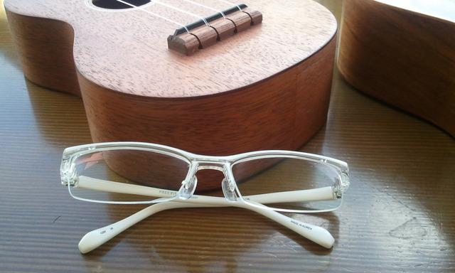 粋な町人風眼鏡。