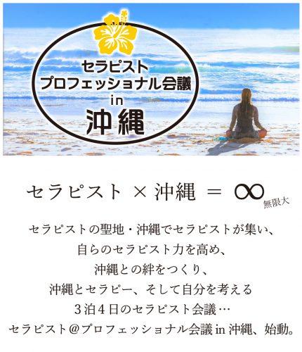 自分を磨き、癒しの聖地・沖縄との絆を作るセラピストのための沖縄会議4日間、参加者募集中!